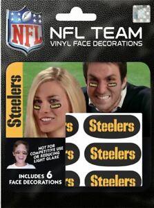 Pittsburgh Steelers Eye Black Strips 6pk