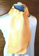 100% woven silk men's cravat/scarf/ascot  Bright yellow  NEW