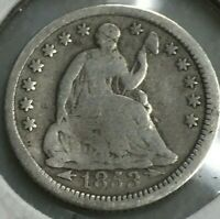 1853-P SEATED LIBERTY WITH ARROWS SILVER HALF DIME