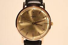 """VINTAGE RARE MEN'S GOLD PLATED USSR RUSSIA WATCH """"LUCH"""" 23 JEWELS(VIMPEL)/"""