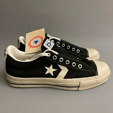 Converse All Star Low Black White MADE IN USA 90s vintage UK4 UK5 New DS
