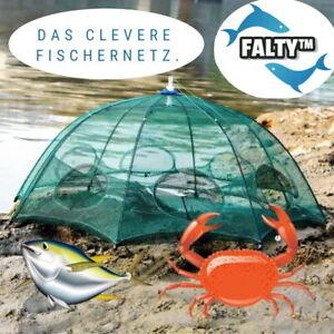 FALTY™ Zusammenfaltbares Fischernetz Fangnetz Wurfnetz Setzkescher Kescher Reuse