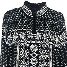 Obermeyer 1947 Signature Women's Wool Ski Sweater Size Medium 1/2 Zip Pullover