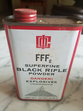 ~`Vintage Goex Ffg Superfine Black Rifle Powder Tin 16 oz
