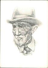 AK Berühmte Person: J.W. Mitschurin als Zeichnung eines sowjetischen Grafikers