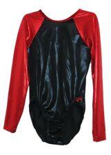 Gk Elite Black/Red Mystique Gymnastics Leotard - Axs Adult Extra Small 4049