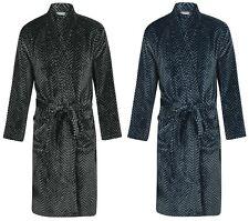Walker Reid Uomo Vestaglia, Accappatoio Pesce Motivo Morbido Pile Kimono