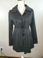 Cynthia Rowley Women's Size Small Jacket Coat Spring Black Swing Peacoat