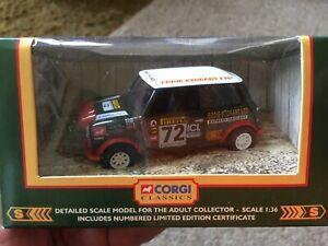 CORGI 1:36 SCALE MODEL EDDIE STOBART SPONSORED 1997 MINI RALLY CAR NEW IN BOX