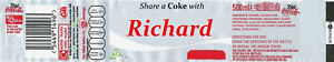4 X PERSONALISED DIET COKE COLA BOTTLE LABEL - PARTY / BIRTHDAY / WEDDING