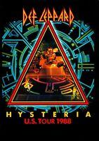 DEF LEPPARD 1988 HYSTERIA U.S. TOUR CONCERT PROGRAM BOOK BOOKLET / NMT 2 MINT