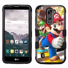 for LG Stylo 2 Plus MS550 Hard+Rubber Hybrid Impact Cover Case Super Mario #1JY