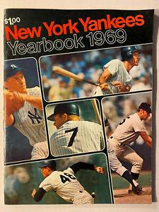 New York Yankees 1969 Yearbook Mickey Mantle Yankee Stadium Joe Pepitone EX