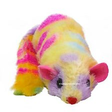 Cat Kitten Ferret Fun Fleecy Rattle Toy Plush 3 Bright Colour Options 23cm