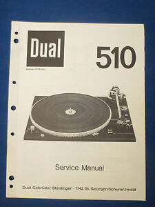 Dual Service Manual für C 830  Copy