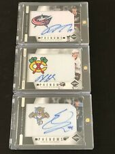 Lot of 3 2011-12 Panini Limited Rookie Phenoms Patch Auto Cards Saad Johansen +