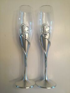 HORTENSE B. HEWITT WEDDING SPARKLING LOVE CHAMPAGNE FLUTES CONDITION NEW