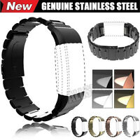 Genuine Stainless Steel Bracelet Watch Band Wrist Strap For Fitbit Charge 2