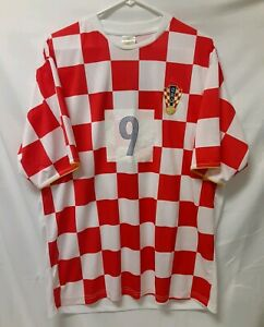 Croatia CRO Soccer Club Player Jersey Shirt Dado Pršo #9 National Team Size XL