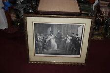 Antique Shakespeare Engraving-LARGE-Framed-1790-Peter Simon-William Hamilton