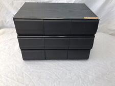 Audio Cassette Storage - 9 Drawers - 2 Cabinets Single & Double - 108 Cassettes