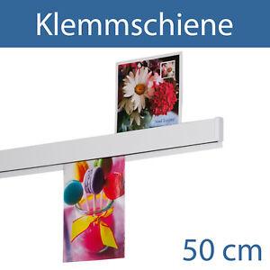 Klemmschiene, Wandklemmschiene, Klemmleiste, Papierklemmleiste | 50 cm