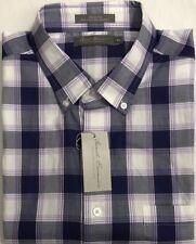 New Daniel Cremieux Casual Short Sleeve Shirt Lavender Plaids Size XL $17.50