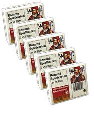 5x Rommé Spielkarten 2x 55 Kartendeck| Romme Kartenspiel | Canasta Karten
