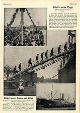 China Ausschiffung deutscher Truppen Kolonie Kiautschau Kath.Kirche Prinz...1900