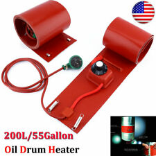 New 200L/55Gallon 110V 1000W Silicon Metal Oil Drum Heater Drum Heating