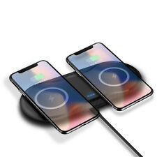US Slim 2in1 Qi Wireless Charger Charging Dock Pad For i Phone8 X XS Samsung S10
