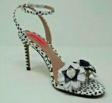 Betsey Johnson Fluer Dalmation Ankle Strap Sandals Size 8.5