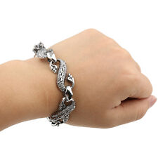 Gothic Men's T-Rex Dinosaur Bracelet Bangle Cuff Jewellery Antique Silver