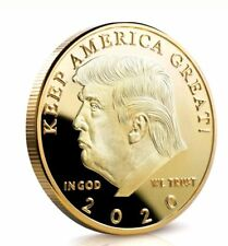Donald J Trump 2020 Keep America Great Commander In Chief Gold Challenge Coin KY