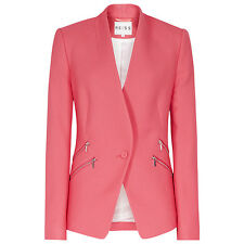 Z £225 NWT REISS ARYA FLAMINGO PINK BLAZER JACKET COAT M MEDIUM 10 12 6 8 38 40