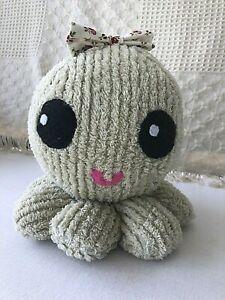 Stuffed Octopus Plush, Denim, Fleece, Chenille, Minky, Sailor, Bow Tie, Nursery