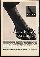 3w1836/ Alte Reklame von 1960 - …bitte FALKE Strümpfe - Falke-Rohen GmbH