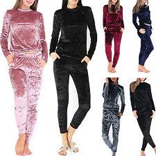2Pcs Femmes velours écrasé Extensible combinaison pyjama pull femmes