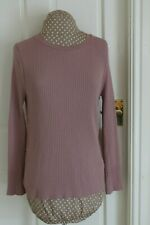 Next unusual Pink size 12 ribbed Jumper round Neck assymetric back feature