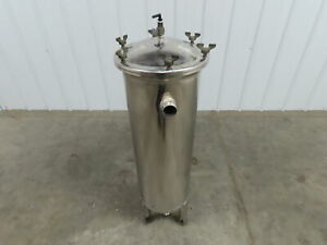 """Harmsco Up-Flow Cartridge Filter Stainless Housing Only  11""""x 40"""""""