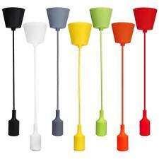 7x Vintage Plafond Douille Pendentif Support E27 Lampe Ampoule Décor 1m Câble