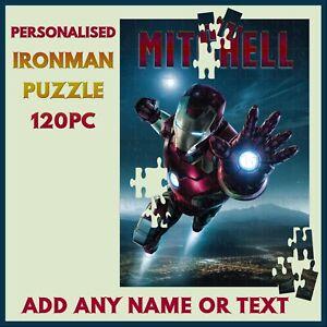 Personalised Ironman Puzzle - 120pc Jigsaw - Name Gift, Kids Birthday Christmas