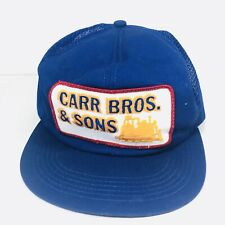 Carr Bros. & Sons Snap Back Trucker Farmer Mesh Patch K Products K Brand Hat