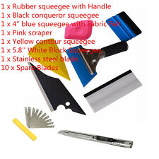 8x Squeegee Car Window Tinting Auto Film Wrapping Install Applicator Tools Kits
