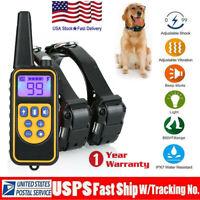 875 Yard 1/2/3 Dog Shock Pet Training Collar Remote Control Waterproof Electric