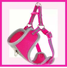 Top Paw Hot Pink Silver Reflective Mesh Comfort Dog Harness XS New Without Tags