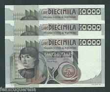 F.C. ITALIA ITALY , TRIO CORRELATIVO 10000 LIRAS 1976/82 , EBC+ ( XF ) , P.106b