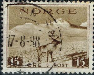 Norway Polar Fauna Reindeer stamp 1938