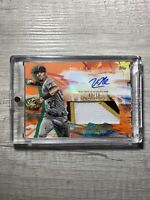 Kevin Newman Inception Auto Patch Mem  Tri-Color  /10 Pittsburgh Pirates