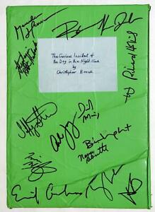 Cast Signed CURIOUS INCIDENT OF THE DOG IN THE NIGHT-TIME Stage Used Prop Book